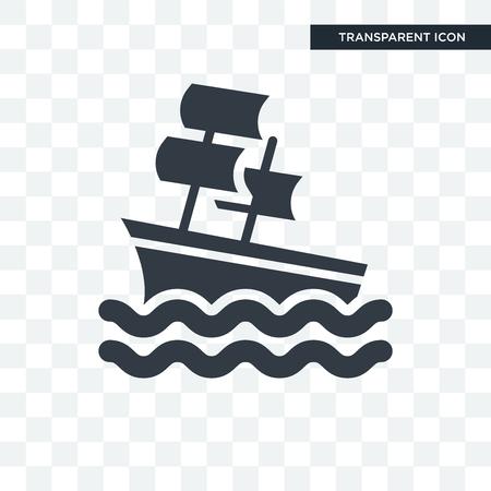 Sailboat illustration icon isolated on transparent background