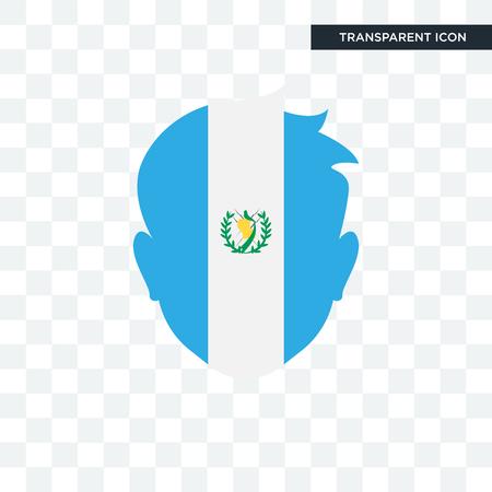Guatemala flag concept icon illustration isolated on transparent background