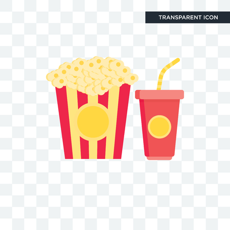 Popcorn icon isolated on transparent background, Popcorn  concept