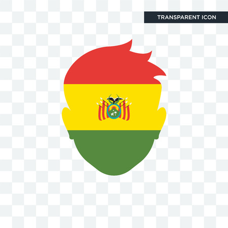 Bolivia flag concept illustration icon  isolated on transparent background