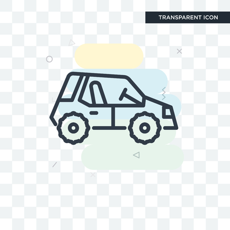 Buggy vector icon isolated on transparent background, Buggy logo concept Vectores