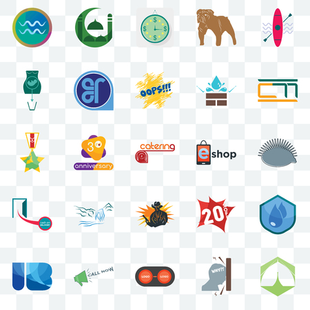 Set Of 25 transparent icons such as marquee, frustration, convert, call now, ib letter, , eshop, outlaw, cash on delivery, abortion, estimate, mosque, web UI transparency icon pack