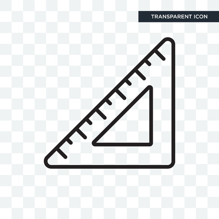 Set square vector icon isolated on transparent background