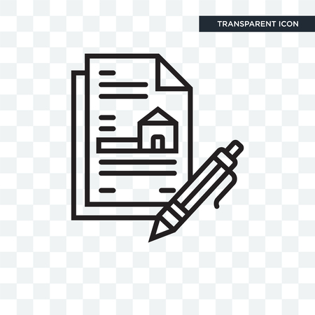 Contract vector icon isolated on transparent background, Contract logo concept Illustration
