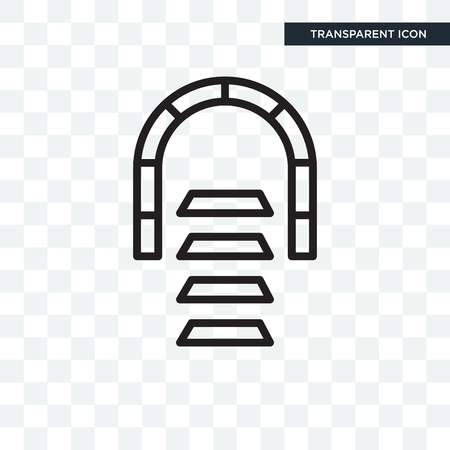 Tunnel vector icon isolated on transparent background, Tunnel logo concept