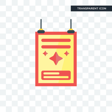 Poster concept illustration icon isolated on transparent background