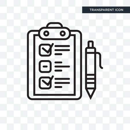 Clipboard vector icon isolated on transparent background, Clipboard logo concept  イラスト・ベクター素材