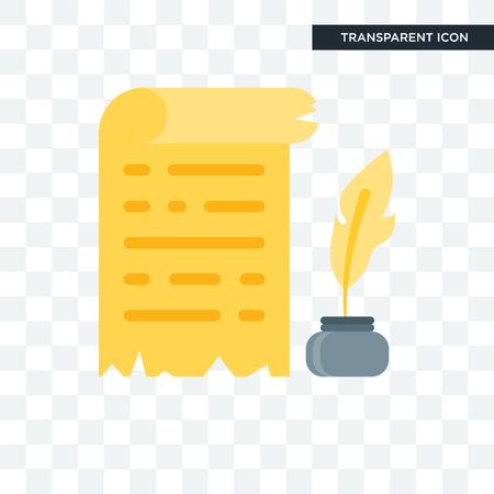 Icona di vettore di papiro isolato su sfondo trasparente, concetto di logo di papiro Logo