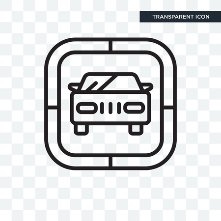 Car vector icon isolated on transparent background