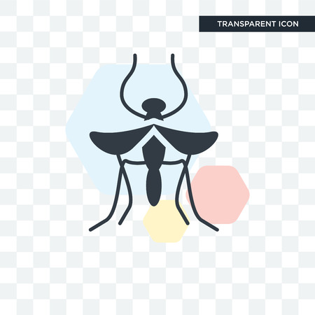 Mosquito illustration icon isolated on transparent background