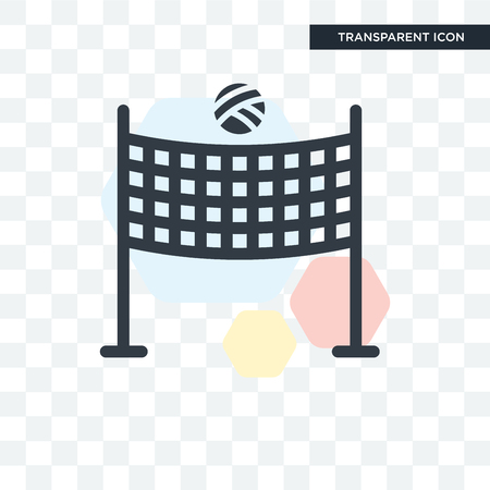 Volleyball net vector icon isolated on transparent background, Volleyball net logo concept