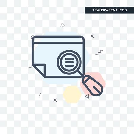 Preview illustration icon isolated on transparent background Vektorgrafik