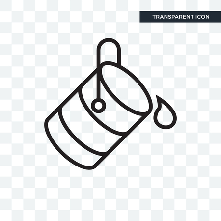 Bucket vector icon isolated on transparent background, Bucket logo concept