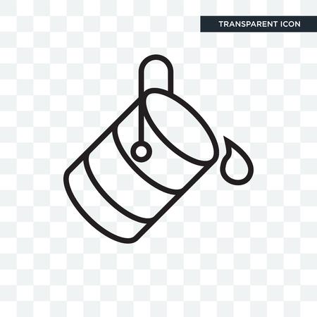 Icône de vecteur de seau isolé sur fond transparent, concept logo seau