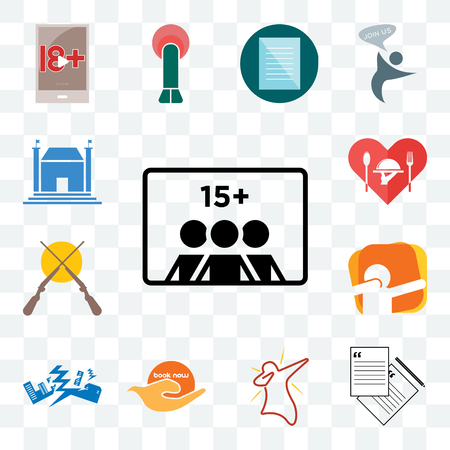 Set Of 13 transparent editable icons such as number of players, request a quote, dab, book now, earthquake, shotgun, hospitality, municipal, web ui icon pack