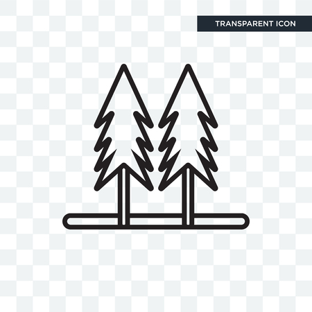 Pines illustration icon isolated on transparent background Ilustração
