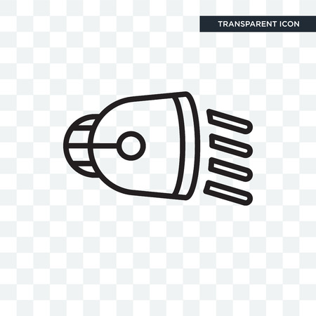 Low Beam illustration icon isolated on transparent background Ilustração