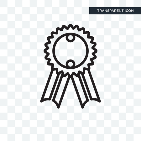 Badge vector icon isolated on transparent background, Badge logo concept