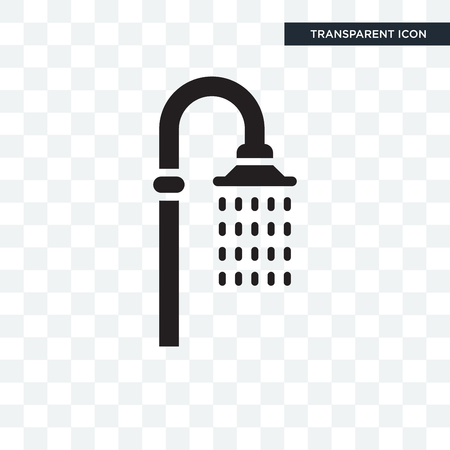 Shower vector icon isolated on transparent background, Shower logo concept