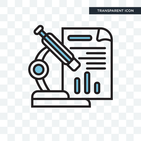 Microscope concept illustration icon isolated on transparent background Stock Illustratie