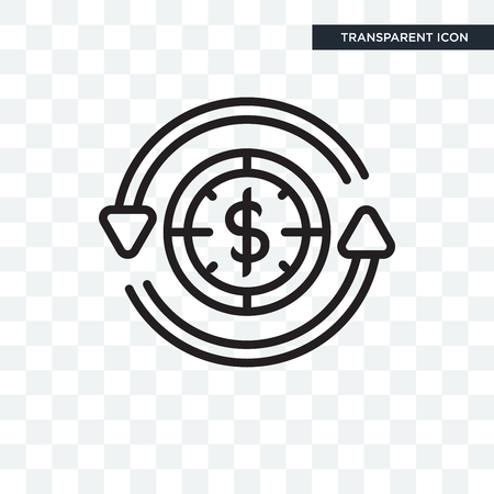 Dollar vector icon isolated on transparent background Illustration