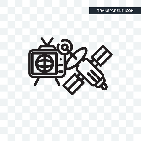 TV and satellite concept illustration icon isolated on transparent background