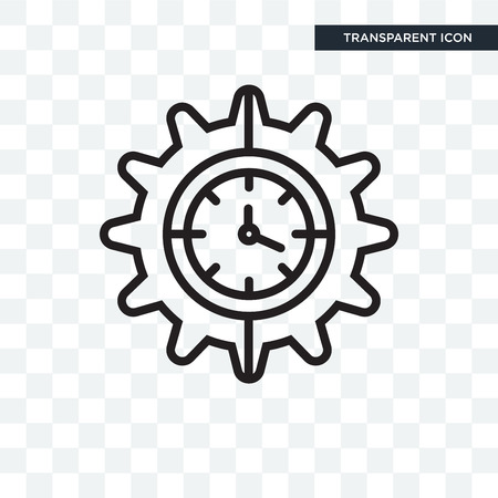 Wall clock icon isolated on transparent background