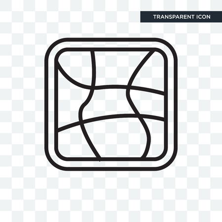 Distort concept illustration icon isolated on transparent background