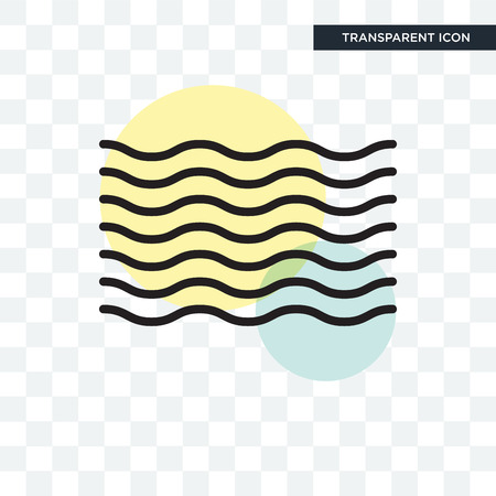 Waves vector icon isolated on transparent background Vektorové ilustrace