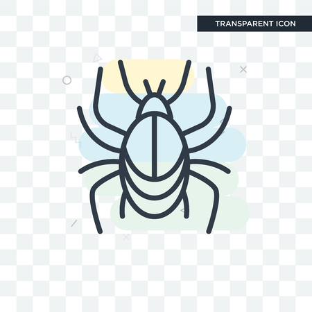 Beetle vector icon isolated on transparent background Illustration