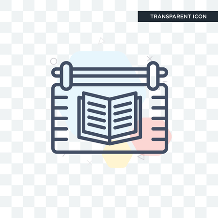 Library vector icon isolated on transparent background Vectores