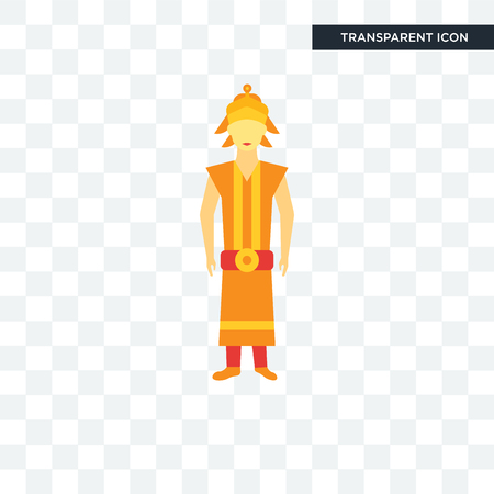 Thai vector icon isolated on transparent background