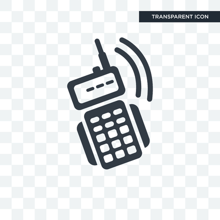 Walkie talkies vector icon isolated on transparent background