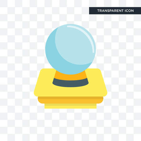 Psychic vector icon isolated on transparent background Illustration
