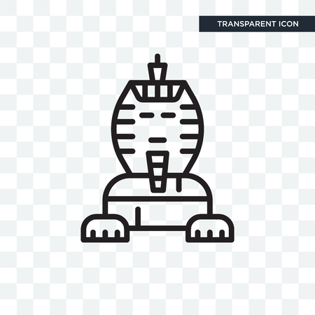 Sphinx vector icon isolated on transparent background Stockfoto - 106821525