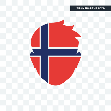 Norway vector icon isolated on transparent background Illustration