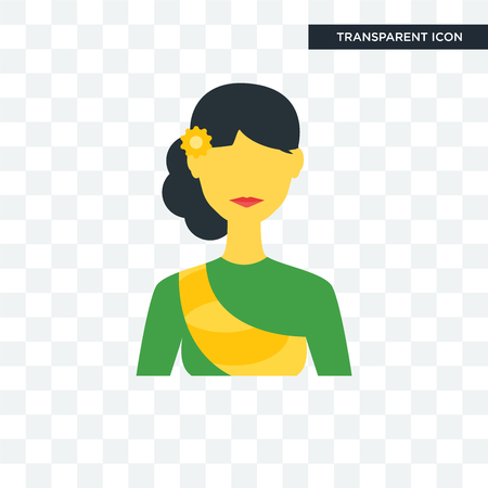 Cambodia vector icon isolated on transparent background Çizim