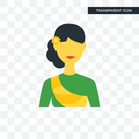 Icône de vecteur de Cambodge isolé sur fond transparent