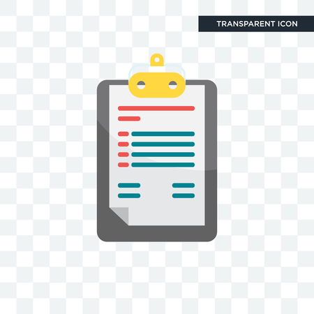 Icône de vecteur de presse-papiers isolé sur fond transparent