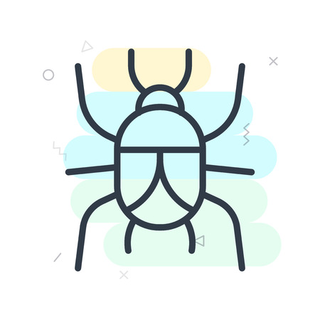 Beetle icon vector isolated on white background for your web and mobile app design, Beetle logo concept Stock Illustratie