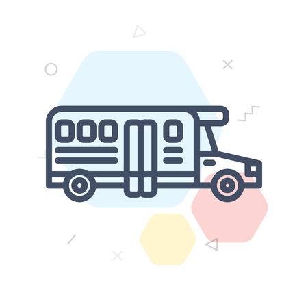 School bus icon vector isolated on white background for your web and mobile app design, School bus logo concept