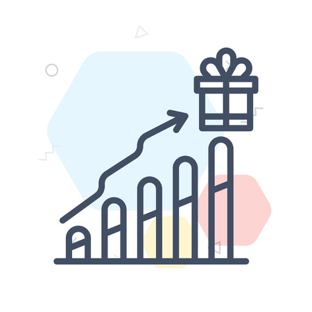 Incentive icon vector isolated on white background for your web and mobile app design