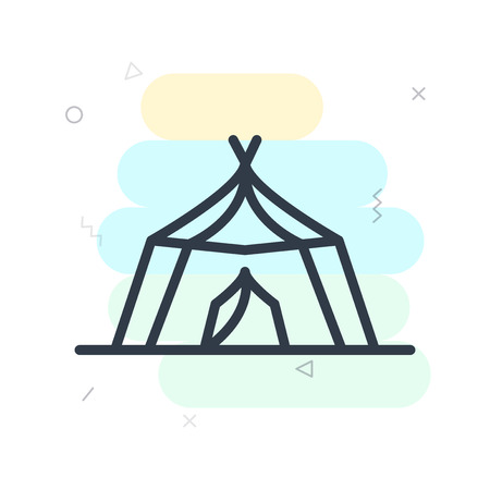 Tent icon vector isolated on white background for your web and mobile app design, Tent logo concept Illusztráció