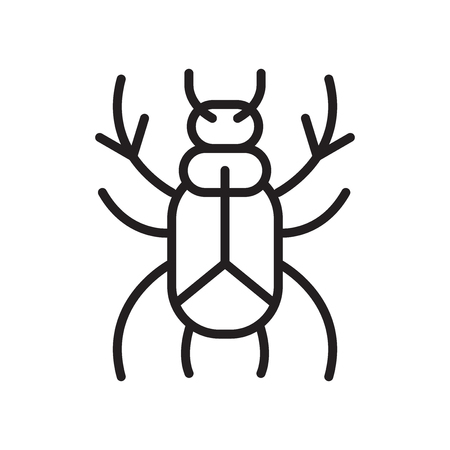 Beetle icon vector isolated on white background for your web and mobile app design