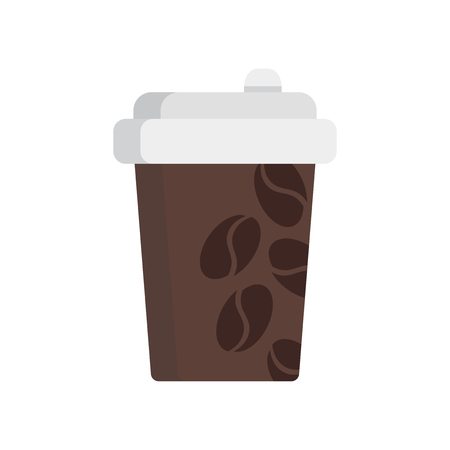 Coffee cup icon vector isolated on white background for your web and mobile app design Illusztráció