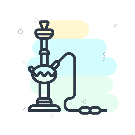 Hookah icon vector isolated on white background for your web and mobile app design Vectores