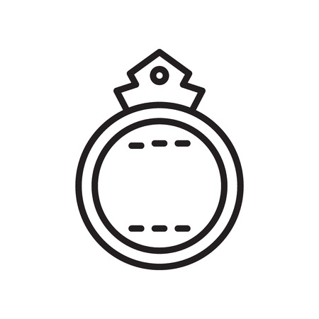Badge icon vector isolated on white background for your web and mobile app design  イラスト・ベクター素材
