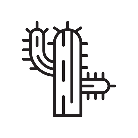 Cactus icon vector isolated on white background for your web and mobile app design