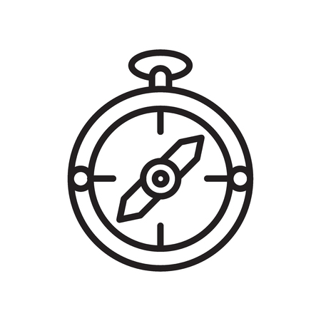Compass icon vector isolated on white background for your web and mobile app design