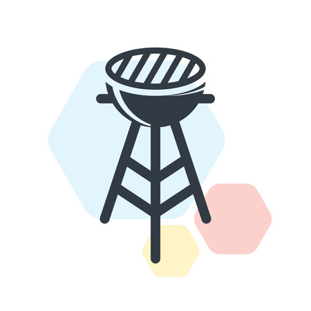 Barbacue icon vector isolated on white background for your web and mobile app design